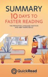 """Summary of """"10 Days to Faster Reading"""" by The Princeton Language Institute and Abby Marks Beale book summary, reviews and downlod"""