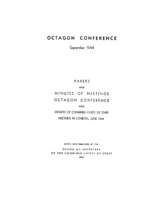 The Octagon Conference: September 1944 by United States Government Printing Office book summary, reviews and downlod
