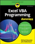 Excel VBA Programming For Dummies book summary, reviews and download