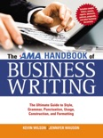 The AMA Handbook of Business Writing book summary, reviews and downlod