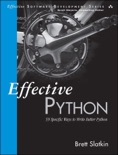 Effective Python book summary, reviews and download