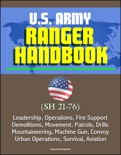 U.S. Army Ranger Handbook (SH 21-76) - Leadership, Operations, Fire Support, Demolitions, Movement, Patrols, Drills, Mountaineering, Machine Gun, Convoy, Urban Operations, Survival, Aviation book summary, reviews and downlod