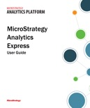 MicroStrategy Express User Guide book summary, reviews and download