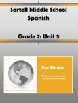 7th Grade Spanish Unit 3