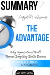 Patrick M. Lencioni's The Advantage Why Organizational Health Trumps Everything Else in Business Summary book summary, reviews and downlod