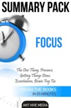 Focus: The One Thing, Presence, Getting Things Done, Essentialism, Brain Fog Fix Summary Pack book summary, reviews and downlod