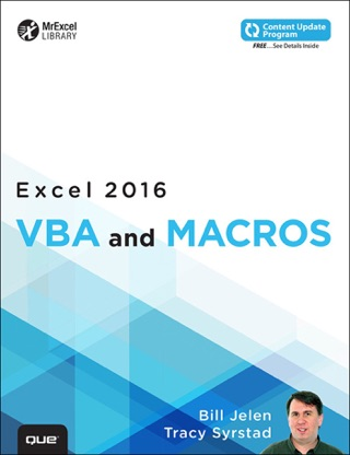 Excel 2016 VBA and Macros by Bill Jelen & Tracy Syrstad E-Book Download